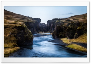 Fjadrargljufur Canyon, Fjadra River, Iceland HD Wide Wallpaper for Widescreen