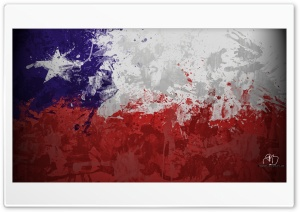 Flag Chile HD Wide Wallpaper for Widescreen