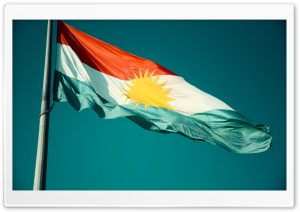 Flag Of Kurdistan HD Wide Wallpaper for Widescreen