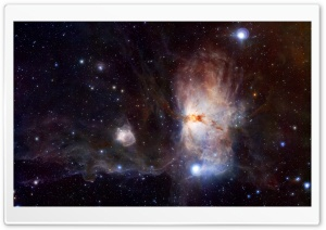 Flame Nebula HD Wide Wallpaper for Widescreen