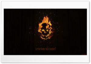 Flaming Skull Ultra HD Wallpaper for 4K UHD Widescreen desktop, tablet & smartphone