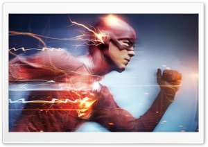Flash Superhero Running HD Wide Wallpaper for 4K UHD Widescreen desktop & smartphone