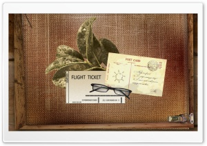 Flight Ticket HD Wide Wallpaper for Widescreen