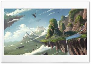 Floating Island Ultra HD Wallpaper for 4K UHD Widescreen desktop, tablet & smartphone