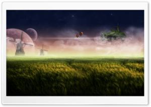 Floating Island Red Ultra HD Wallpaper for 4K UHD Widescreen desktop, tablet & smartphone