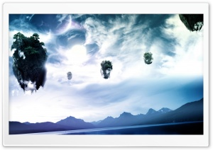 Floating Islands HD Wide Wallpaper for Widescreen