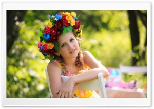 Floral Headpiece HD Wide Wallpaper for Widescreen