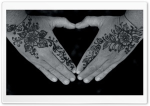 Floral Henna Tattoo HD Wide Wallpaper for Widescreen