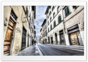 Florence Streets Italy HD Wide Wallpaper for 4K UHD Widescreen desktop & smartphone