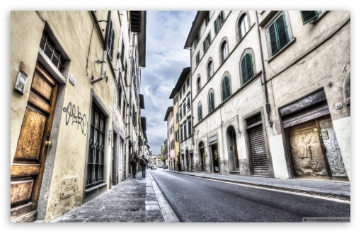 Florence Streets Italy HD wallpaper for Wide 16:10 5:3 Widescreen WHXGA WQXGA WUXGA WXGA WGA ; HD 16:9 High Definition WQHD QWXGA 1080p 900p 720p QHD nHD ; UHD 16:9 WQHD QWXGA 1080p 900p 720p QHD nHD ; Standard 4:3 5:4 Fullscreen UXGA XGA SVGA QSXGA SXGA ; iPad 1/2/Mini ; Mobile 4:3 5:3 3:2 16:9 5:4 - UXGA XGA SVGA WGA DVGA HVGA HQVGA devices ( Apple PowerBook G4 iPhone 4 3G 3GS iPod Touch ) WQHD QWXGA 1080p 900p 720p QHD nHD QSXGA SXGA ;