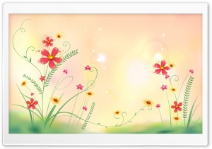 Flowers Illustration HD Wide Wallpaper for Widescreen