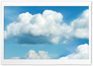 Fluffy White Clouds HD Wide Wallpaper for Widescreen