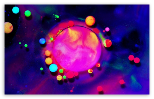 Fluorescent Paint Colors Bubbles Macro Ultra Hd Desktop