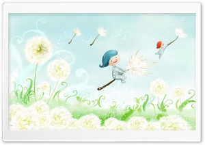 Fly Away On Dandelions HD Wide Wallpaper for Widescreen