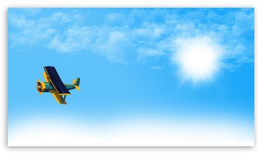 Fly in Blue Sky HD wallpaper for HD 16:9 High Definition WQHD QWXGA 1080p 900p 720p QHD nHD ; Mobile 16:9 - WQHD QWXGA 1080p 900p 720p QHD nHD ;