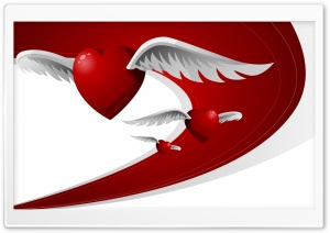 Flying Hearts HD Wide Wallpaper for Widescreen