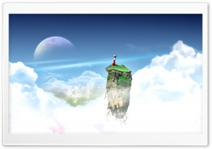Flying Island HD Wide Wallpaper for Widescreen