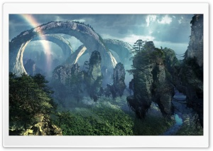 Flying Mountains Of Pandora HD Wide Wallpaper for Widescreen