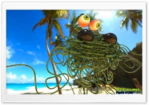 Flying Spaghetti Monster HD Wide Wallpaper for Widescreen