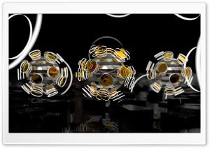 Focused Spheres - Orange HD Wide Wallpaper for Widescreen