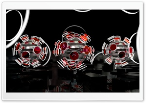 Focused Spheres - Red HD Wide Wallpaper for 4K UHD Widescreen desktop & smartphone