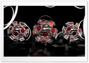 Focused Spheres - Red Ultra HD Wallpaper for 4K UHD Widescreen desktop, tablet & smartphone