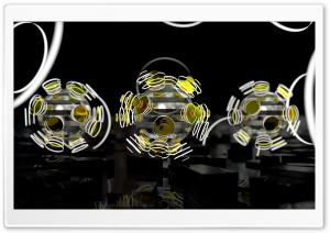 Focused Spheres - Yellow HD Wide Wallpaper for Widescreen