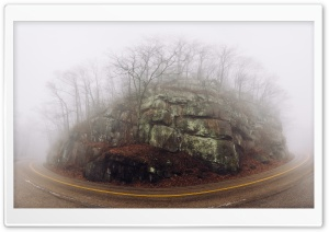 Fog, Mountain Road Ultra HD Wallpaper for 4K UHD Widescreen desktop, tablet & smartphone