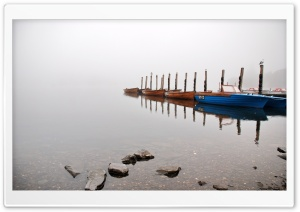 Fog On The Lake HD Wide Wallpaper for Widescreen