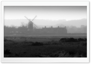 Foggy Cley Next The Sea, England HD Wide Wallpaper for 4K UHD Widescreen desktop & smartphone