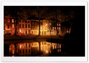 Foggy Evening, Utrecht HD Wide Wallpaper for 4K UHD Widescreen desktop & smartphone