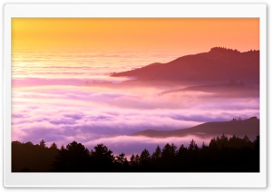 Foggy Hills HD Wide Wallpaper for Widescreen