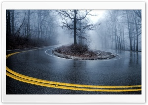 Foggy Road HD Wide Wallpaper for Widescreen