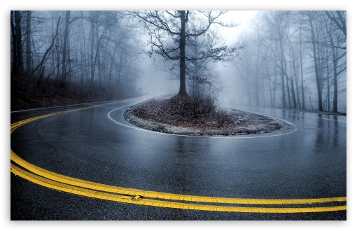 Foggy road 4k hd desktop wallpaper for 4k ultra hd tv tablet smartphone mobile devices - 1366x768 is 720p or 1080p ...