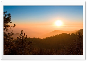 Foggy Sunset HD Wide Wallpaper for Widescreen