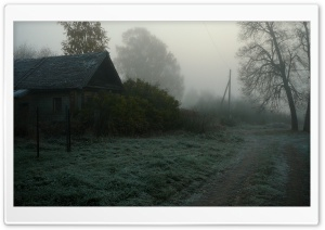 Foggy Village HD Wide Wallpaper for Widescreen