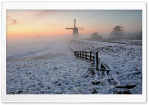 Foggy Winter Morning HD Wide Wallpaper for Widescreen