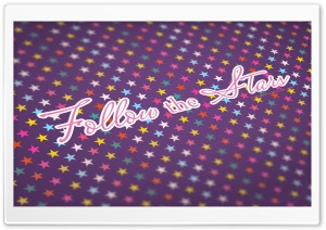 Follow The Stars - Colorful HD Wide Wallpaper for Widescreen