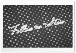 Follow The Stars BW HD Wide Wallpaper for Widescreen