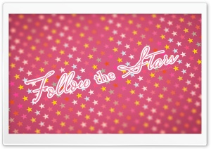 Follow The Stars Pink HD Wide Wallpaper for Widescreen