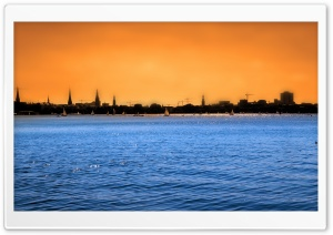 FoMef - Hamburg Alster Design HD Wide Wallpaper for 4K UHD Widescreen desktop & smartphone