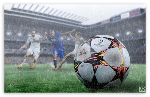 Football In The Rain Ultra Hd Desktop Background Wallpaper For 4k Uhd Tv Widescreen Ultrawide Desktop Laptop Tablet Smartphone