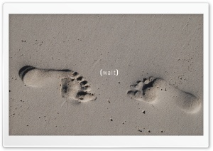 Footprints HD Wide Wallpaper for Widescreen