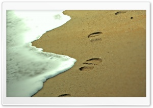 Footprints in the Sand HD Wide Wallpaper for Widescreen