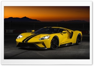 Ford GT Yellow Ultra HD Wallpaper for 4K UHD Widescreen desktop, tablet & smartphone