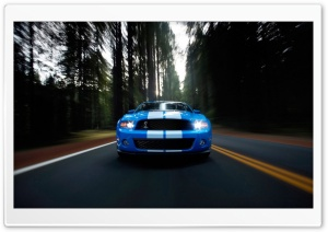 Ford Shelby Blue HD Wide Wallpaper for Widescreen