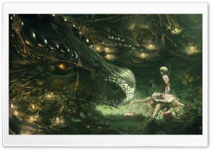 Forest Dragon HD Wide Wallpaper for Widescreen