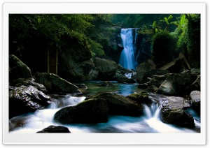 Forest Waterfall Ultra HD Wallpaper for 4K UHD Widescreen desktop, tablet & smartphone