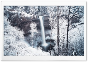 Forest Waterfall Winter HD Wide Wallpaper for Widescreen