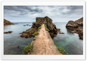 Fort, Berlenga Grande Island, Portugal HD Wide Wallpaper for Widescreen